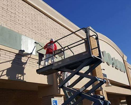 House Painter Interior Exterior Painting Contractor Parking Lot